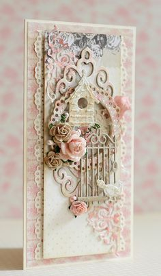 A charming shabby chic card!!!