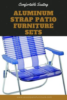 Aluminum Strap Patio Furniture Sets. An aluminum strap terrace piece of furniture is formed from welded metal frames that guarantee sturdiness. They are then powder coated in a process that makes aluminum patio furniture more comfortable and resilient than ever. Most metal strap terrace piece of furniture items stack terribly simply. This is convenient for storage, particularly for hotels or industrial sites like pools and beaches. #Aluminum #Strap #Patio #Furniture #Sets Aluminum Patio, Metal Frames, Patio Furniture Sets, Pools, Beaches, Terrace, Powder, Industrial, Storage