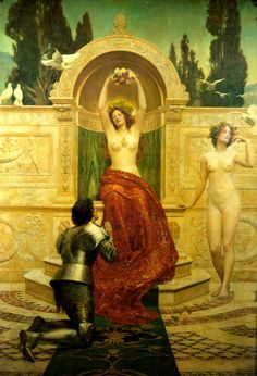 John Collier: Tannhäuser in the Venusberg, 1901.  [via i12bent]
