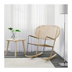 IKEA - GRÖNADAL, Rocking chair, , Handwoven back rest and seat, making each and every GRÖNADAL chair one of a kind.Made from rattan and ash, natural materials that age with grace.The transparent woven pattern in the back and seat give the rocking chair an airy look, making it flexible and easy to fit in at home.10-year limited warrranty. Read about the terms in the limited warranty brochure.