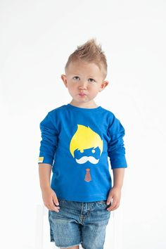 "Yep, that Monday feeling 😑 But petit Hudson looks so good in our #MÔMES ""Ethan"" royal blue long sleeves tee!!🙌🏻 @hudsons.world 