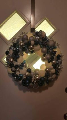 This is a #CustomWreath ordered for #Hanukkah '16. No matter what #religion, #PoliticalAffiliation, or other reason for a #wreath, I will make the #PerfectOne for you. Message me here or go to https://jscraze.weebly.com to get yours ordered.