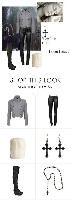 """""""Desdemona: Grey and Black"""" by twisted-doll ❤ liked on Polyvore featuring Ann Demeulemeester, Current/Elliott, Rick Owens, OC, darkangel and desdemona"""