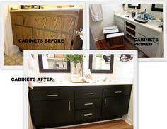 DIY remodel small bathroom - cabinets