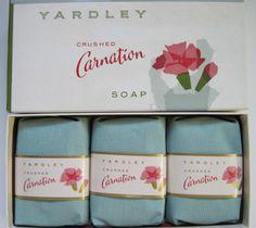 "BOXED VINTAGE YARDLEY ""CRUSHED CARNATION"" PERFUMED SOAPS~VERY NICE   eBay"