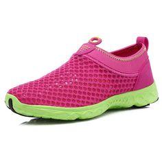 new concept 7aa4e 4566c Women Slip On Breathable Mesh Non Slip Soft Light Outdoor Shoes - Banggood  Mobile Great for Aqua aerobicsl