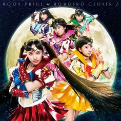 Sailor Moon Crystal's Moon Pride and Moonbow from Momoiro Clover Z! Shopping links here http://www.moonkitty.net/where-to-buy-sailor-moon-crystal-music-reviews.php