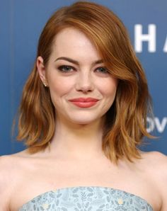 The Best Haircut for Your Face Shape (Example for Round Face: EMMA LIST) via PureWow