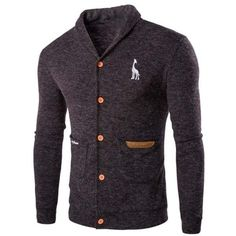 Casual Solid Color Cardigan For Men ($20) ❤ liked on Polyvore featuring men's fashion, men's clothing, men's sweaters and mens cardigan sweaters