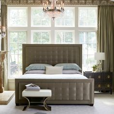Upholstered Panel Bed | Bernhardt