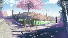 """this is one scene from animation """"Byousoku 5 cm."""" from Comix Wave by Makoto Shinkai"""