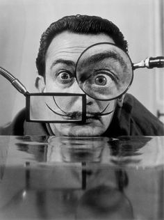Salvador Dalí, 1950. Les loupes, photographed by Willy Rizzo.