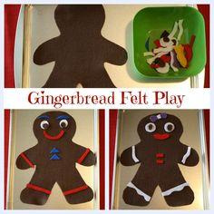 Gingerbread Felt Play Set