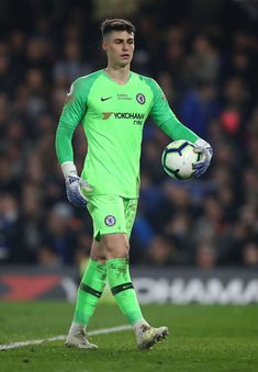LONDON, ENGLAND - APRIL Kepa Arrizabalaga of Chelsea looks on during the Premier League match between Chelsea FC and West Ham United at Stamford Bridge on April 2019 in London, United Kingdom. (Photo by Julian Finney/Getty Images) Fc Chelsea, Chelsea Football, Chelsea Fc Players, Soccer Pictures, Most Popular Games, Stamford Bridge, Premier League Matches, Athletic Men, Goalkeeper