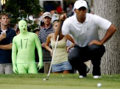 Tiger woods green dude spandex