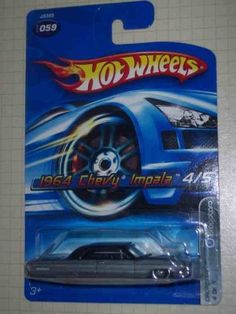 Dropstars #4 1964 Impala Gray And Black Lace Wheels #2006-59 Collectible Collector Car Mattel Hot Wheels by Hot Wheels. $3.99. Perfect Hot Wheels Diecast for every collector!. A Perfect Addition To Any Hot Wheels Collection!. Great Investment For Any Hot Wheels Collector.. Diecast Metal Hot Wheels Car Perfect For That Hot Wheels Collector!. Fun For All Ages! Serious Collectors And Kids Alike!. Dropstars #4 1964 Impala Gray And Black Lace Wheels #2006-59 Collectible Coll...