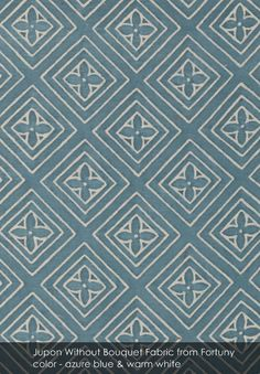 Jupon Without Bouquet fabric from Fortuny in azure blue