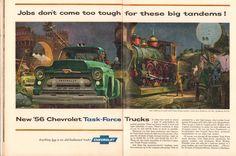 https://flic.kr/p/SDEtUL | 1956 Chevrolet Task-Force Trucks Advertisement Time April 2 1956 | 1956 Chevrolet Task-Force Trucks Advertisement Time April 2 1956