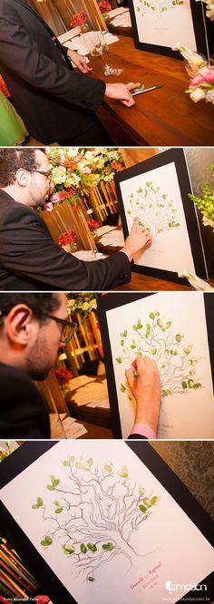 Fingerprint Wedding Guest book | Árvore de digitais para casamento