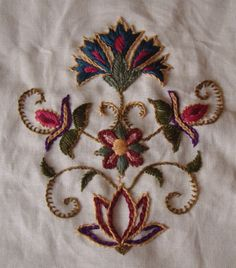 embroidered bag Added by chitra gangadharan on July 2014 at Jacobean Embroidery, Embroidery Art, Embroidery Stitches, Embroidery Patterns, Indian Embroidery, Embroidery Neck Designs, Embroidery Suits Design, Thread Painting, Embroidered Bag