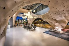 """PRODUCE Workshop's flexible plywood """"Shop-in-Shop"""" interior for Herman Miller has been named the World's Best Interior of World Architecture Festival, Architecture Awards, Interior Architecture, Herman Miller, Versailles, Visual Merchandising, Flexible Plywood, World Festival, Festival 2017"""