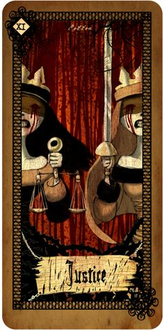 Tarot card - Justice  by *CottonValent.... if anyone knows where I can buy this, please let me know