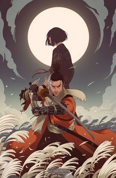 Sekiro Fan Art - Created by Mona Finden Video Game Posters, Video Game Art, Samurai Concept, Character Art, Character Design, Ninja, Find Art, Arte Cyberpunk, Samurai Art