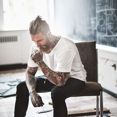 And a topknot + beard is a thing of beauty.   27 Beautiful Topknots That Will Move You To Tears