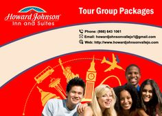 Tour Group Packages are warmly welcomed! Howard Johnson Inn & Suites Vallejo offers customized packages for local, regional, national, and international tour groups visiting the San Francisco Bay Area@ http://goo.gl/Tpoahw