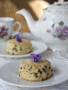 Violet Tea and Scones