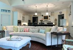warm family lounge room curved sofa - Google Search