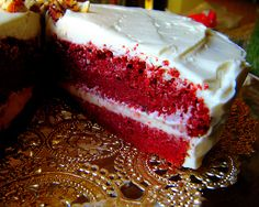 Red Velvet Cake w/Cream Cheese Frosting (6 net carbs)