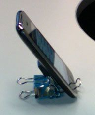 Phone Binder Clip Stand - you would be surprised at how often i would use this