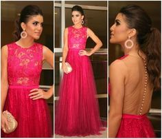 Camila Coelho in pink gown by Alfreda
