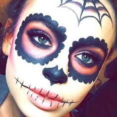 Super pumped on the Sugar Skull on @mkfullerton tonight for a Halloween party! #sugarskull #halloween #makeup #art #lovemyjob #goodtimes #goodpeople #gorgeous