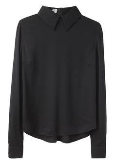 Acne / Sloan Silk Zip Top