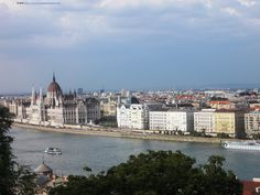 The view from the top of Buda castle