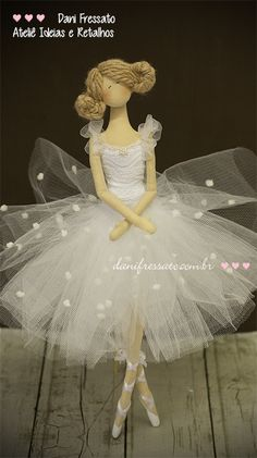 Tilda Doll Gardener Angel Fairy Godmother ecofriendly b… na Doll Sewing Patterns, Sewing Dolls, Doll Clothes Patterns, Doll Crafts, Diy Doll, Ballerina Doll, Doll Hair, Fairy Dolls, Cute Dolls