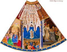 Detalhe em foto: Quadro do Ciclo litúrgico anual ( Pascal )