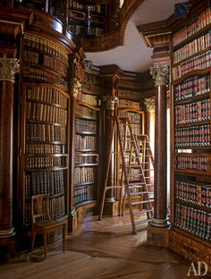 90 Home Library Ideen für Männer – Private Reading Room Designs - Mann Stil Library Room, Dream Library, Cozy Library, Library Ideas, Vienna Library, Library Ladder, Library Inspiration, Library In Home, Belle Library