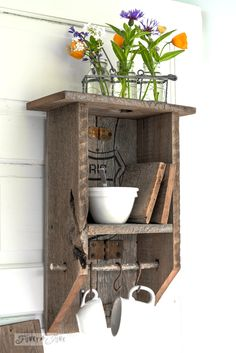 A reclaimed wood branch shelf that's really... anything!