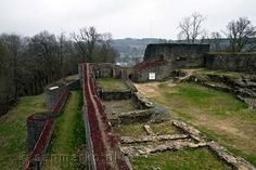 Ruins of a once beautiful castle in Herbeumont in Belgium