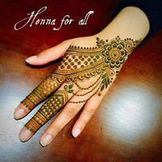 Latest Henna Designs, Modern Mehndi Designs, Mehndi Design Pictures, Unique Mehndi Designs, Wedding Mehndi Designs, Beautiful Henna Designs, Mehndi Images, Mehndi Designs For Hands, Hena Designs