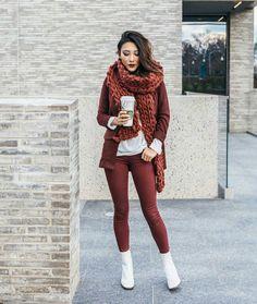 Модные шарфы (55 фото): крупная вязка, хомут, снуд