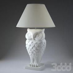 3d модели: Настольные светильники - Owl Lamp