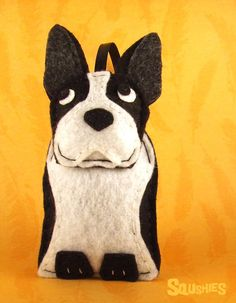 French Bulldog, Felt Dog, Christmas Ornament, Felt Animal Ornament