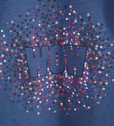 Camiseta texto lentejuelas