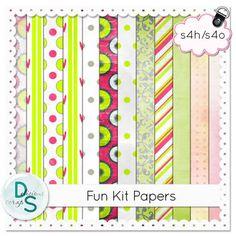 Delicious Scraps: Re-Upload Free Scrap Kit Fun Kit Printable Scrapbook Paper, Printable Paper, Psd Templates, Free Printables, Photoshop Shapes, Kit, Creative, Digital Papers, Digital Scrapbooking