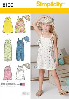 Keep kids cool with this comfy jumpsuit pattern! Simplicity pattern 8100