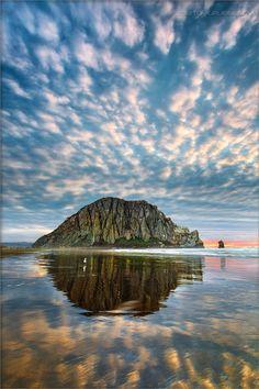 Morro Rock Cloud Dance #morrobay #california #nature #travel #ocean
